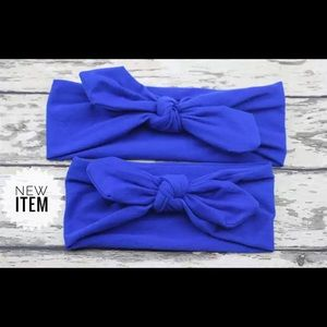 Other - Blue mom and baby knot headband